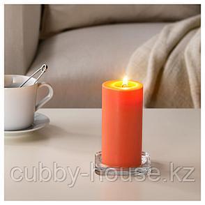 СИНЛИГ Формовая свеча, ароматическая, Персик и апельсин, оранжевый, 14 см, фото 2