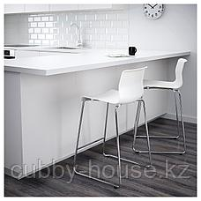 ГЛЕН Табурет барный, белый, хромированный, 66 см, фото 2