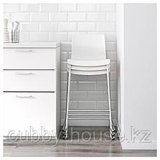 ГЛЕН Табурет барный, белый, хромированный, 66 см, фото 3