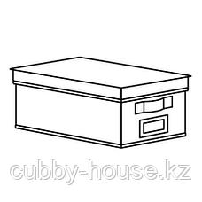 СТОРСТАББЕ Коробка с крышкой, бежевый, 25x35x15 см, фото 2