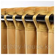 САНЕЛА Затемняющие гардины, 1 пара, золотисто-коричневый, 140x300 см, фото 3
