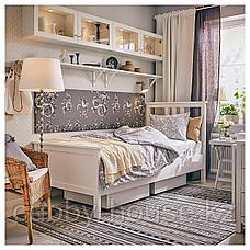 ХЕМНЭС Каркас кровати, белая морилка, Лонсет, 90x200 см, фото 2