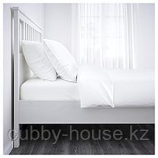 ХЕМНЭС Каркас кровати, белая морилка, Лонсет, 90x200 см, фото 3