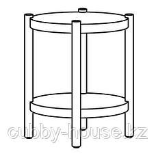 ЛИСТЕРБИ Придиванный столик, белая морилка дуб, 50 см, фото 3