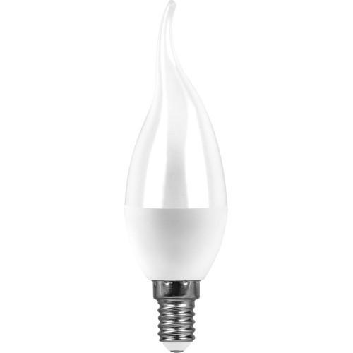 Лампа светодиодная  7W 4000K 230V E14 C37T свеча на ветру