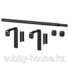 РЭККА Гардинный карниз/комбинация, черный, 70-120 см, фото 3