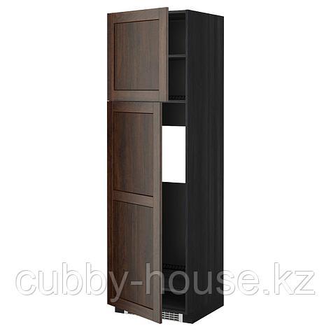 МЕТОД Высокий шкаф д/холодильника/2дверцы, белый, Веддинге белый, 60x60x220 см, фото 2