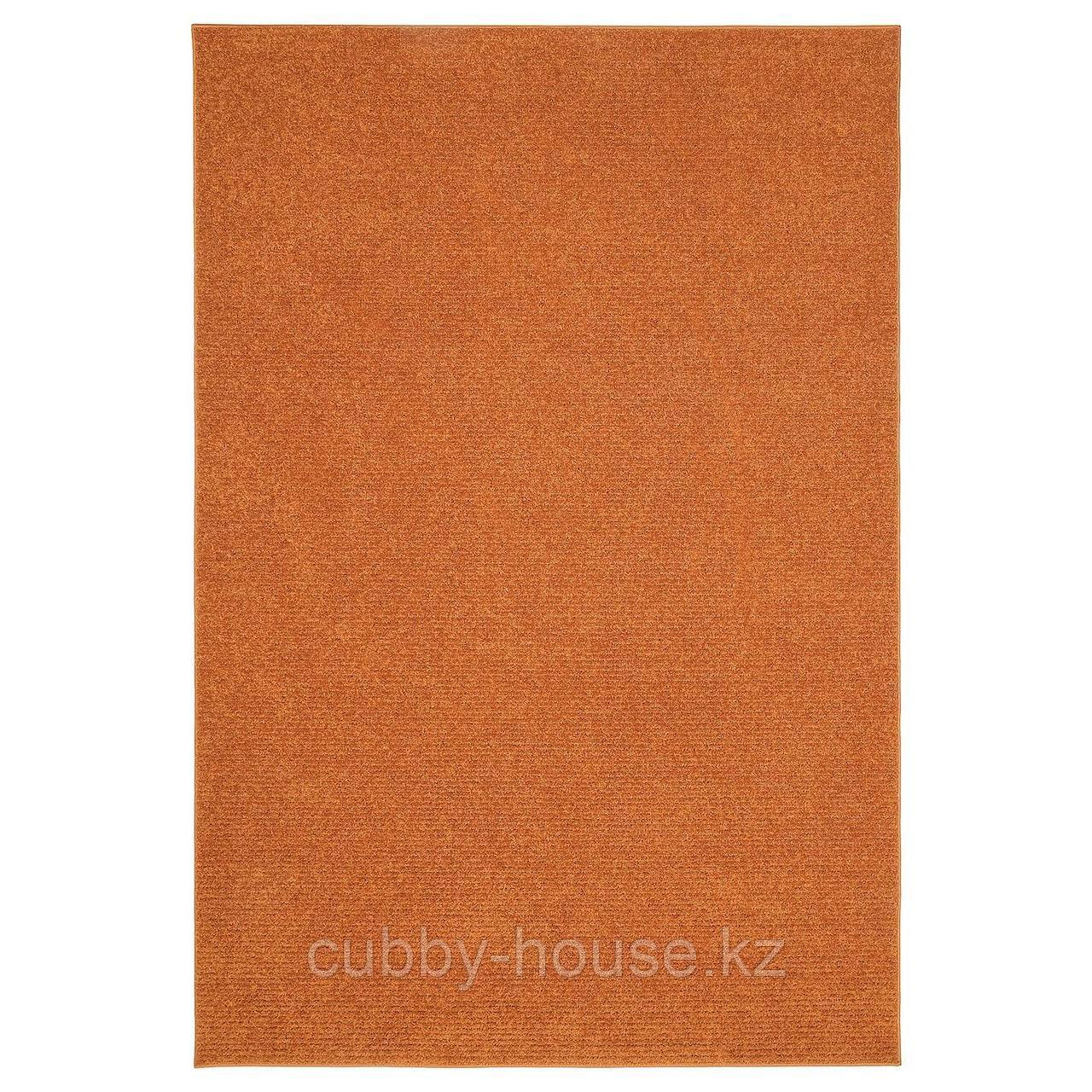 СПОРУП Ковер, короткий ворс, коричневый, 200x300 см