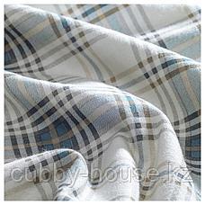 НОРДРУТА Пододеяльник и 1 наволочка, серый, синий, 150x200/50x70 см, фото 3