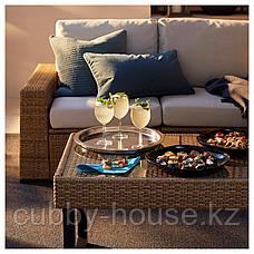 СОЛЛЕРОН 4-местный комплект садовой мебели, коричневый, ФРЁСЁН/ДУВХОЛЬМЕН бежевый, фото 2