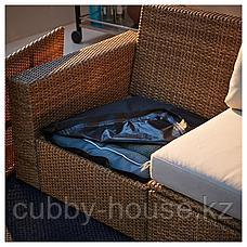 СОЛЛЕРОН 4-местный комплект садовой мебели, коричневый, ФРЁСЁН/ДУВХОЛЬМЕН бежевый, фото 3