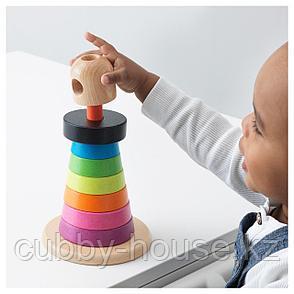 МУЛА Пирамидка, разноцветный, бук, фото 2