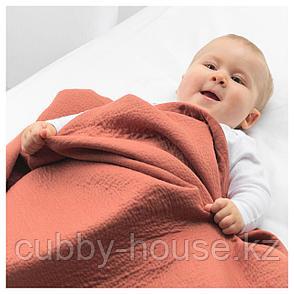 ТИЛЛГИВЕН Одеяло детское, темно-красный, 85x115 см, фото 2