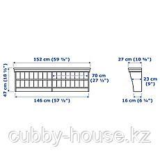 ЛИАТОРП Полочный/арочный модуль, белый, 152x47 см, фото 3