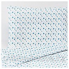 ГУЛСПАРВ Пододеяльник, наволочка д/кроватки, орнамент «черника», 110x125/35x55 см, фото 3