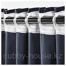 САНЕЛА Затемняющие гардины, 1 пара, темно-синий, 140x300 см, фото 3