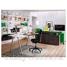ТИГЕ Письменный стол, белый, серебристый, 120x60 см, фото 2