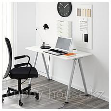 ТИГЕ Письменный стол, белый, серебристый, 120x60 см, фото 3