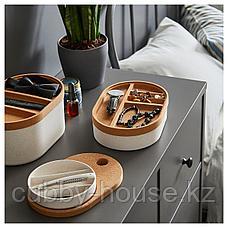 САКСБОРГА Коробка с зеркальной крышкой, пластик пробка, 24x17 см, фото 2