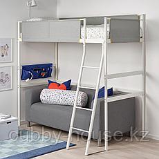ВИТВАЛ Каркас кровати-чердака, белый, светло-серый, 90x200 см, фото 2