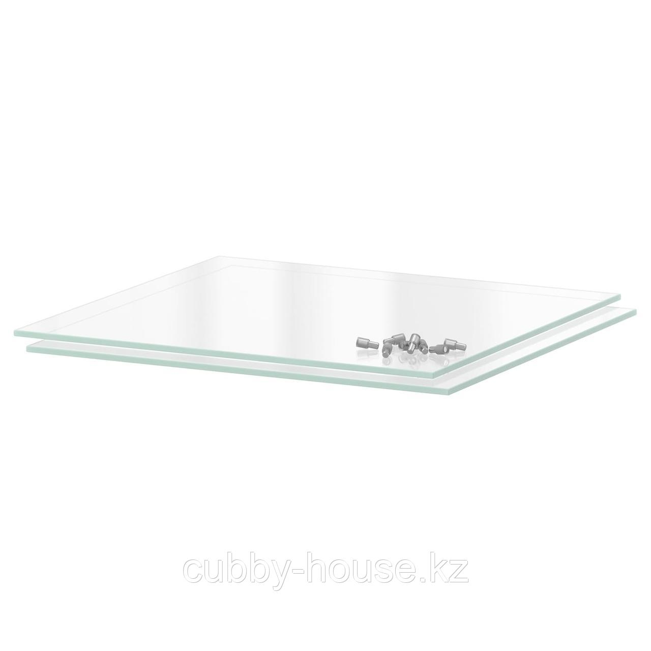 УТРУСТА Полка, стекло, 30x37 см
