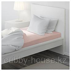 ДВАЛА Простыня натяжная, светло-розовый, 90x200 см, фото 3
