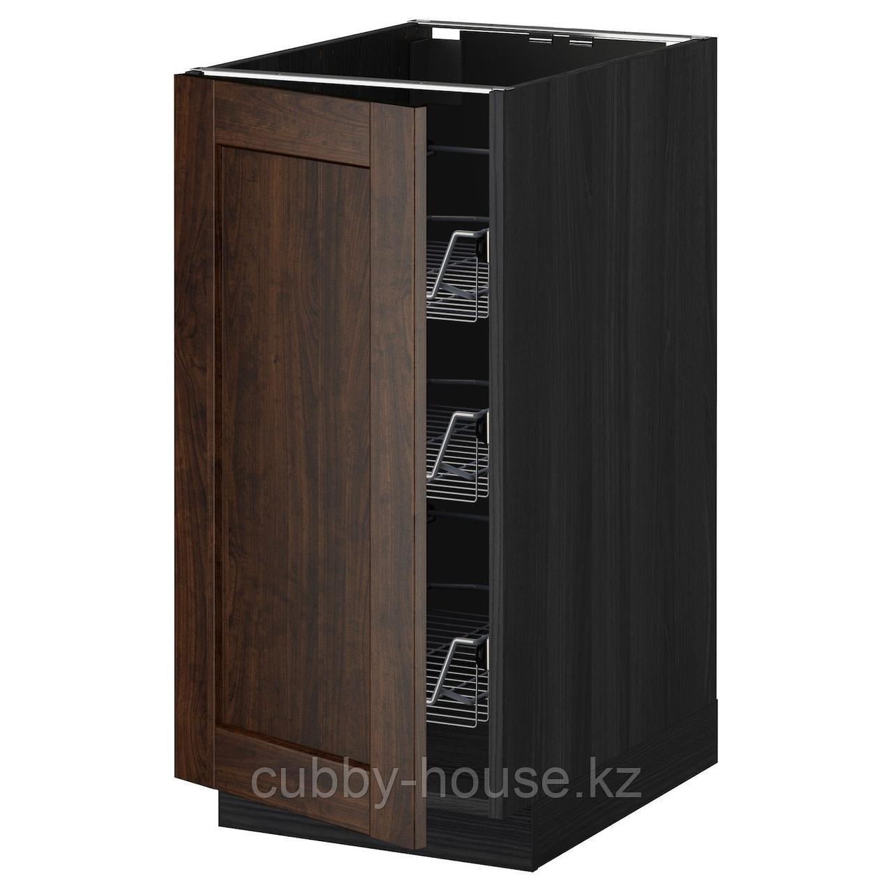 МЕТОД Напольный шкаф с проволочн ящиками, белый, Хэггеби белый, 40x60 см