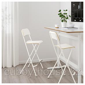 ФРАНКЛИН Стул барный, складной, белый, белый, 74 см, фото 2