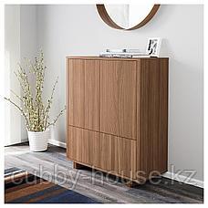 СТОКГОЛЬМ Шкаф с 2 ящиками, шпон грецкого ореха, 90x107 см, фото 3