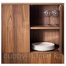 СТОКГОЛЬМ Шкаф с 2 ящиками, шпон грецкого ореха, 90x107 см, фото 2