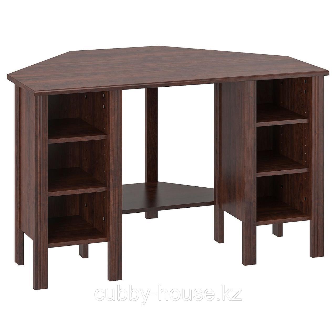 БРУСАЛИ Угловой письменный стол, белый, 120x73 см