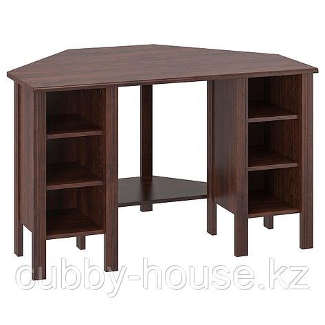 БРУСАЛИ Угловой письменный стол, белый, 120x73 см, фото 2