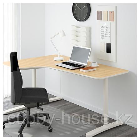 БЕКАНТ Подстолье для угловой столешницы, белый, 160x110 см, фото 2