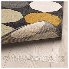 ТОРРИЛД Ковер, короткий ворс, разноцветный, 133x195 см, фото 3