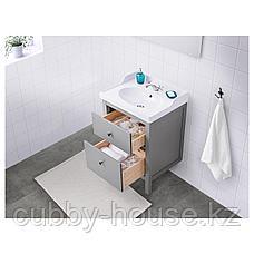 ХЕМНЭС Шкаф для раковины с 2 ящ, серый, 80x47x83 см, фото 3