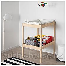 СНИГЛАР Пеленальный стол, бук, белый, 72x53 см, фото 3