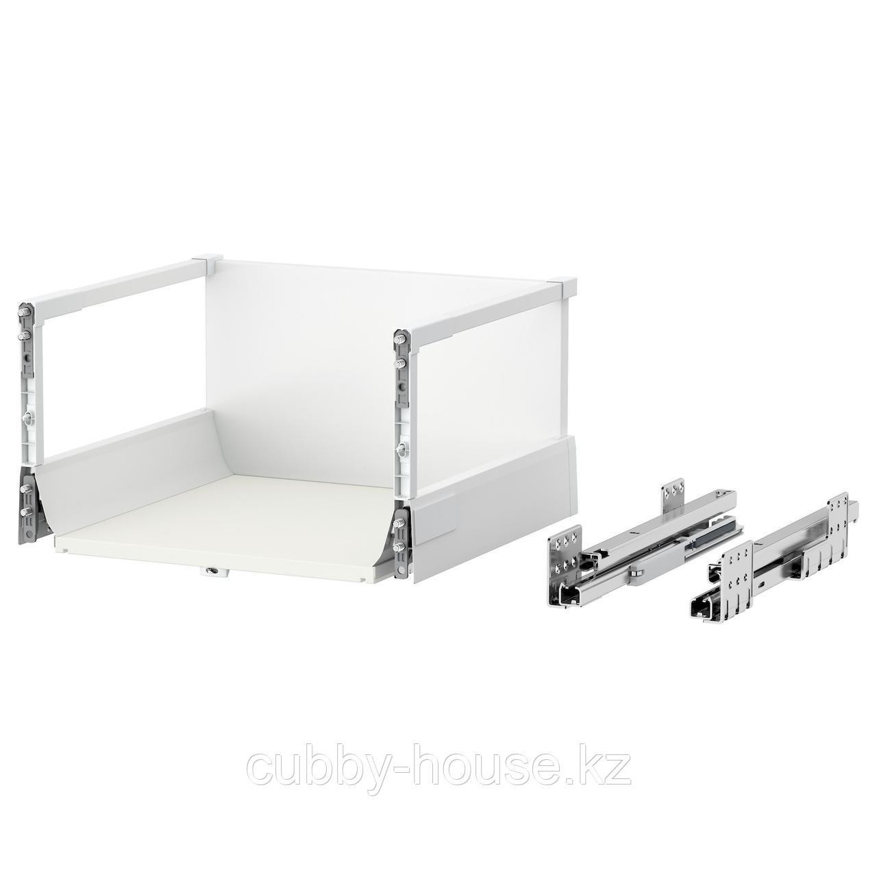 МАКСИМЕРА Ящик, высокий, белый, 80x60 см