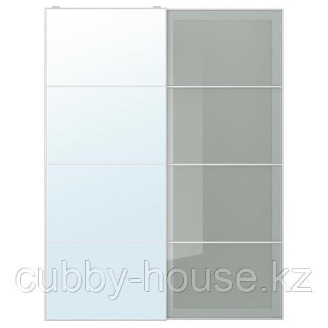 АУЛИ / СЭККЕН Пара раздвижных дверей, зеркальное стекло, матовое стекло, 150x236 см, фото 2