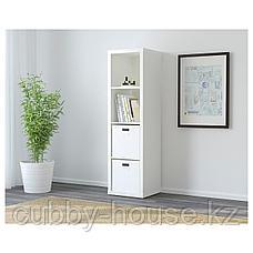 КАЛЛАКС Стеллаж, черно-коричневый, 42x147 см, фото 2