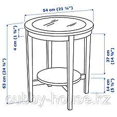МАЛМСТА Придиванный столик, черно-коричневый, 54 см, фото 3
