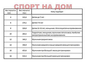 Боксерские перчатки Reebok кожа (цвет белый, золото) 12,14,16OZ, фото 3
