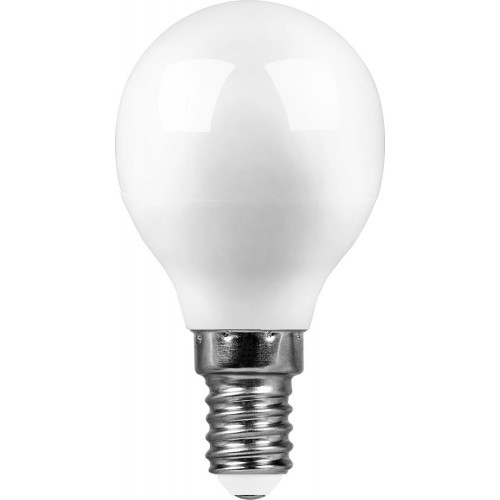 Лампа светодиодная 7W 6400K 230V E14 G45