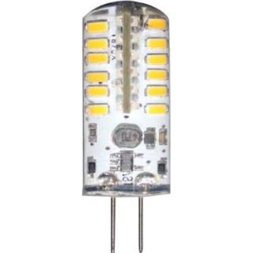 Лампа светодиодная  (3W) 12V G4 2700K капсула силикон 11x38mm