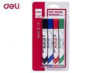"""Набор маркеров для доски, DELI """"EU00101"""", 4 цвета"""