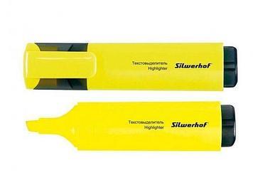 """Текстовыделитель SILWERHOF """"Blaze"""" 1-4 мм, желтый"""
