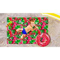 Пляжное покрывало «Фламинго», размер 90 × 140 см