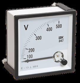 Вольтметр Э47 500В кл.точн. 1,5 96*96мм (ИЭК)