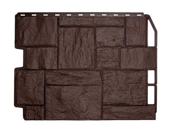 Фасадные панели Коричневый 795х595 мм Туф Дачный FINEBER