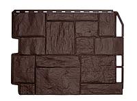 Фасадные панели Коричневый 795х595 мм Дачный Туф FINEBER, фото 1