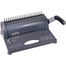 """Брошюровщик OfficeSpace BM124 """"Perfect bind"""" для пластиковых пружин, пробивает 12л., сшивает 450л. BM_26816"""
